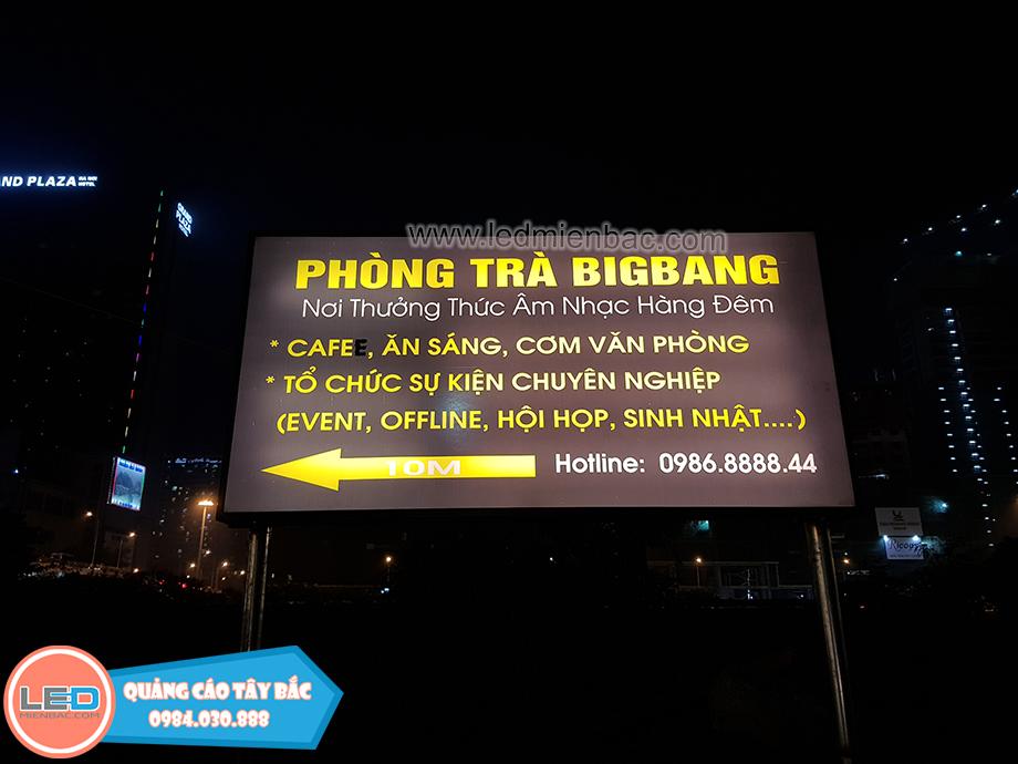 Thi công quảng cáo cho phòng trà Bigbang