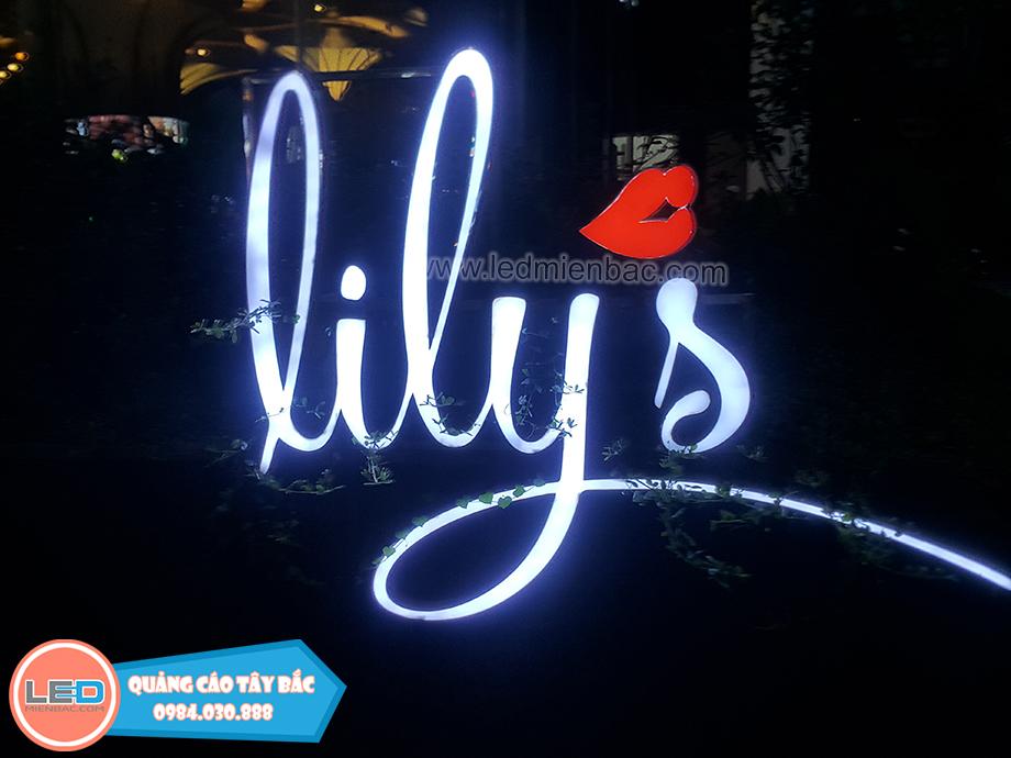 mẫu biển quảng cáo quán cafe lily